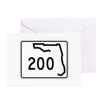 Route 200, Florida Greeting Cards (Pk of 10)
