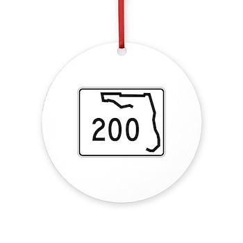 Route 200, Florida Ornament (Round)
