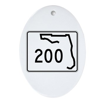 Route 200, Florida Ornament (Oval)