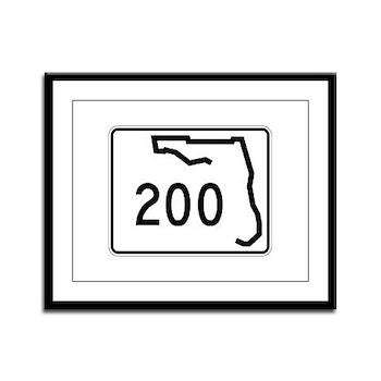 Route 200, Florida Framed Panel Print