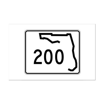 Route 200, Florida Mini Poster Print