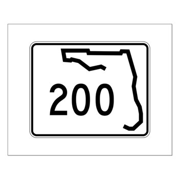 Route 200, Florida Small Poster
