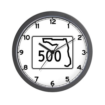 Route 500, Florida Wall Clock