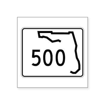 Route 500, Florida Square Sticker 3