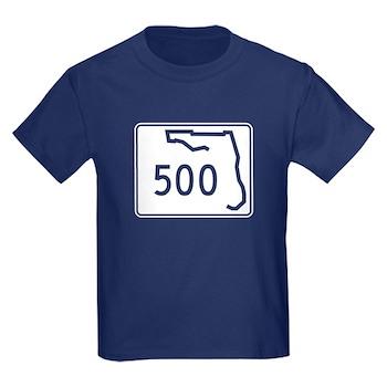 Route 500, Florida Kids Dark T-Shirt