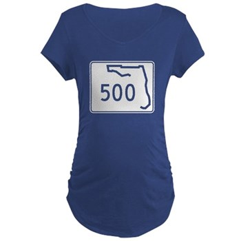 Route 500, Florida Maternity Dark T-Shirt