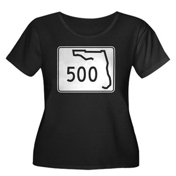 Route 50 Women's Plus Size Scoop Neck Dark T-Shirt