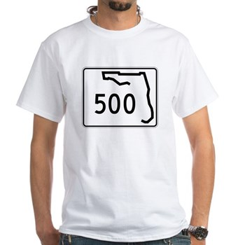 Route 500, Florida White T-Shirt