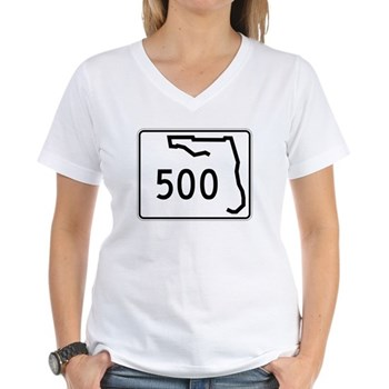 Route 500, Florida Women's V-Neck T-Shirt