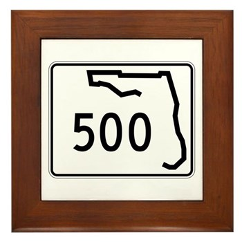 Route 500, Florida Framed Tile