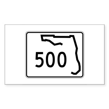 Route 500, Florida Sticker (Rectangle)