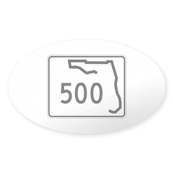 Route 500, Florida Sticker (Oval)
