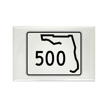 Route 500, Florida Rectangle Magnet (100 pack)