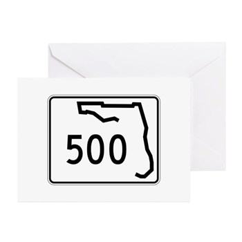 Route 500, Florida Greeting Cards (Pk of 10)