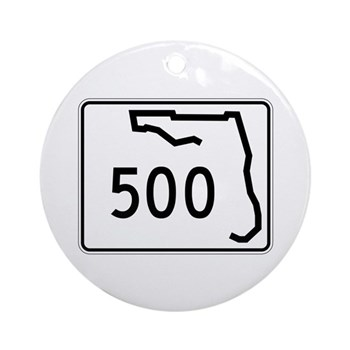 Route 500, Florida Ornament (Round)