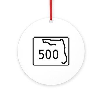 Route 500, Florida Ornament (Round)