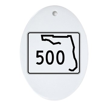 Route 500, Florida Ornament (Oval)