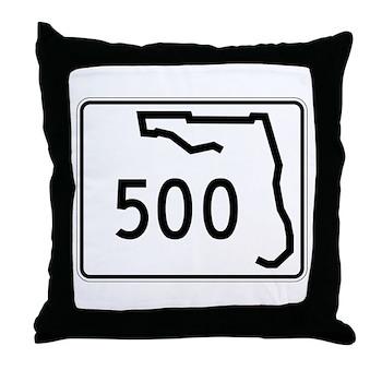 Route 500, Florida Throw Pillow