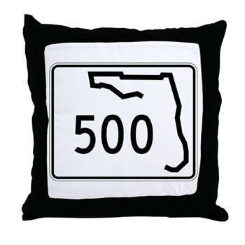 Route 500, Florida Throw Pillow