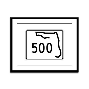 Route 500, Florida Framed Panel Print