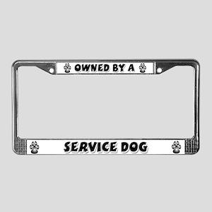 Service Dog License Plate Frame