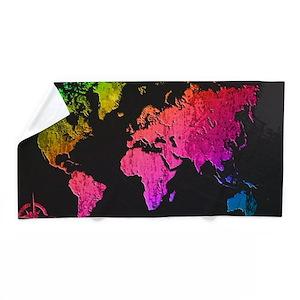 World map design beach towel gumiabroncs Images