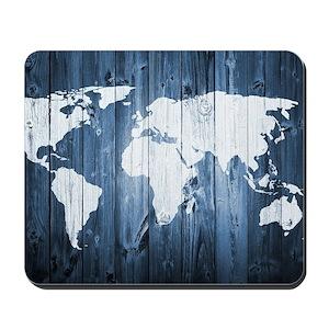 World Map Mouse Pads Cafepress