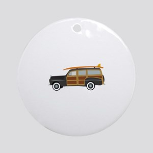 Surfer Car Ornament (Round)
