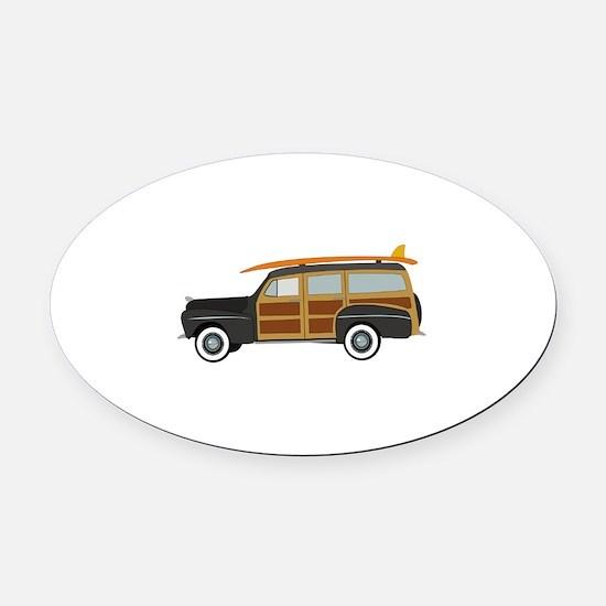 Surfer Car Oval Car Magnet
