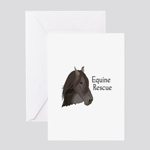 EQUINE RESCUE Greeting Cards