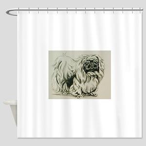 Pekingese Shower Curtain