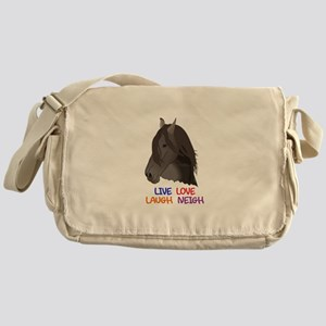LIVE LOVE LAUGH NEIGH Messenger Bag