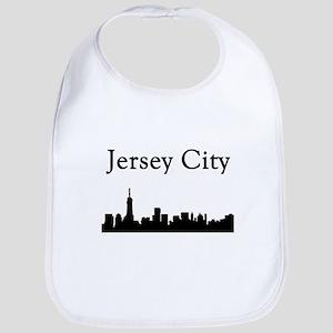 Jersey City Skyline Baby Bib