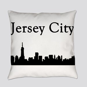 Jersey City Skyline Everyday Pillow