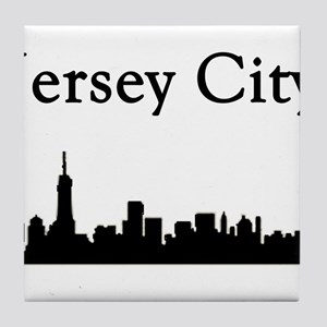 Jersey City Skyline Tile Coaster