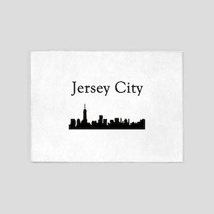 Jersey City Skyline 5'x7'Area Rug