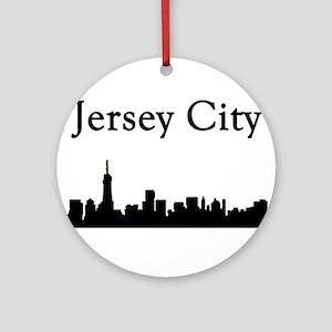 Jersey City Skyline Round Ornament