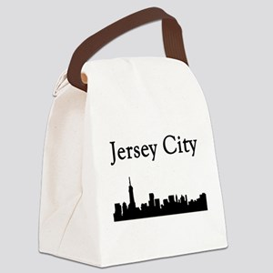 Jersey City Skyline Canvas Lunch Bag