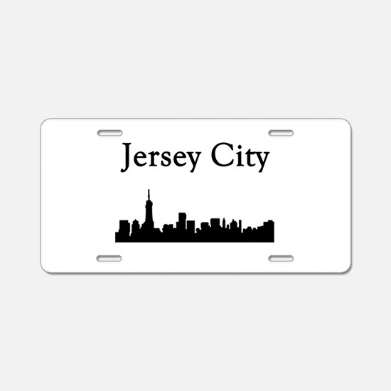 Jersey City Skyline Aluminum License Plate