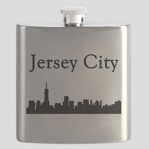 Jersey City Skyline Flask