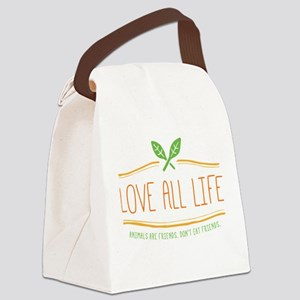 Love All Life Canvas Lunch Bag