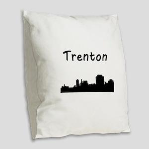 Trenton Skyline Burlap Throw Pillow