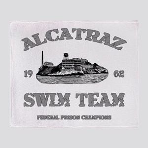 ALCATRAZ SWIM TEAM Throw Blanket