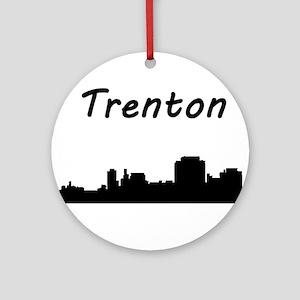 Trenton Skyline Round Ornament