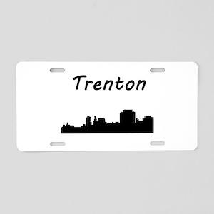 Trenton Skyline Aluminum License Plate