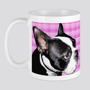 Pink Retro Boston Terrier Mug