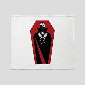 Draculas Coffin Throw Blanket