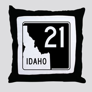 Route 21, Idaho Throw Pillow