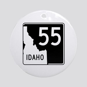 Route 55, Idaho Ornament (Round)