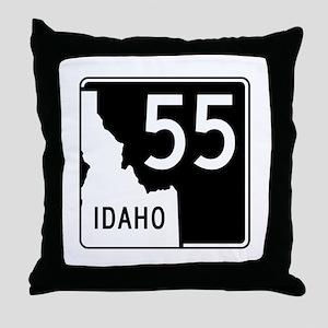 Route 55, Idaho Throw Pillow